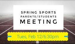 Spring Sports Parent/Student Meeting